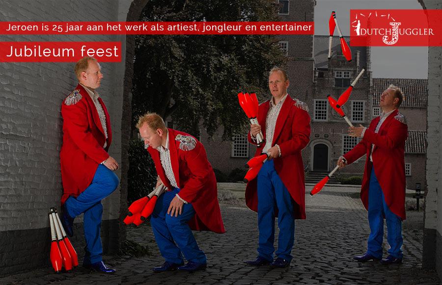 25 jarig jubileum, jongleur, jeroen